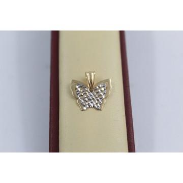 Дамски златен медальон пеперуда 2555