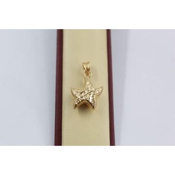 Дамски златен медальон звезда жълто злато 2556