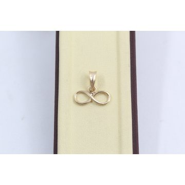 Дамски златен медальон безкрайност жълто злато 2564