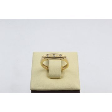 Дамски златен пръстен бяло жълто злато бели циркони 2623
