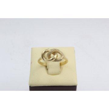 Дамски златен пръстен безкрайност жълто злато 2626