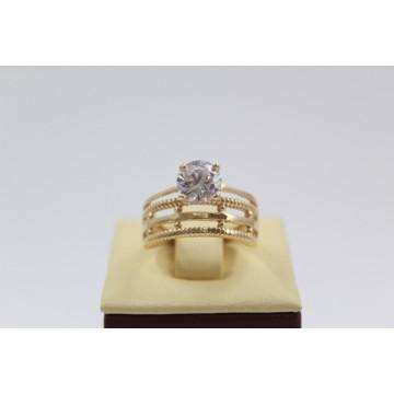 Дамски златен годежен пръстен 2641