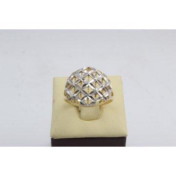 Дамски златен пръстен бяло жълто злато 2649