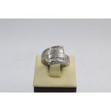 Дамски стоманен пръстен бяла стомана 2733
