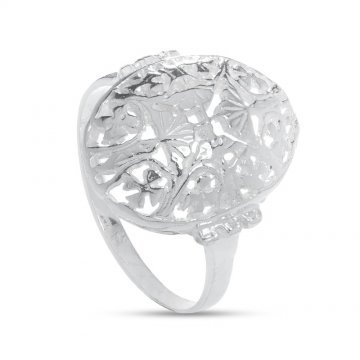 Дамски сребърен ретро пръстен с четирилистни детелини 2791