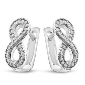 Дамски сребърни обеци Безкрайност 2837