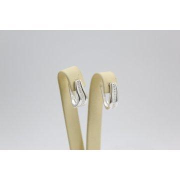 Дамски сребърни обеци Кристалин бели циркони 2848