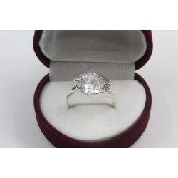 Дамски сребърен годежен пръстен Кристалин 2849