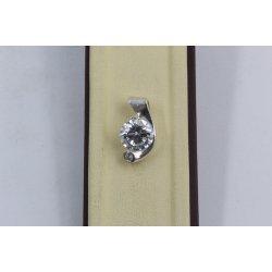 Дамски сребърен медальон Кристалин 2850