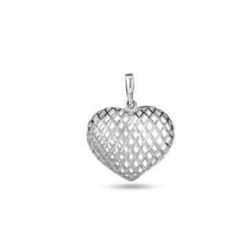 Дамски сребърен медальон Сърце 2850