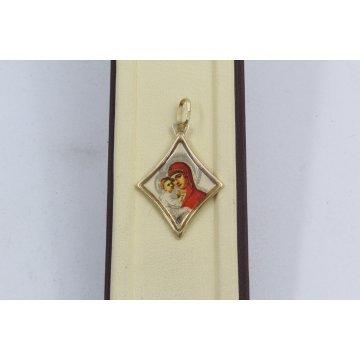 Златна Дамска Богородица жълто злато 2869