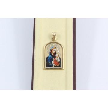 Златна дамска Богородица жълто злато 2870