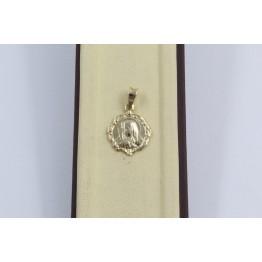 Дамски златен медальон богородица жълто злато 2875