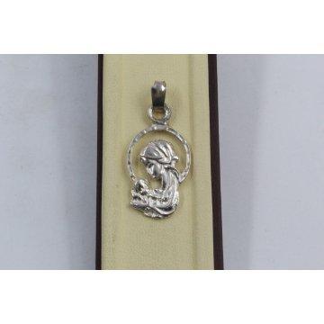 Дамски сребърен медальон Богородица 2881