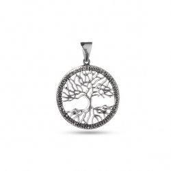 Дамски сребърен медальон Дървото на Живота 2882