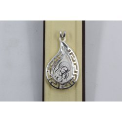 Дамска сребърна висулка Богородица 2894