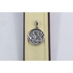 Сребърна висулка Богородица тъмно сребро 2895