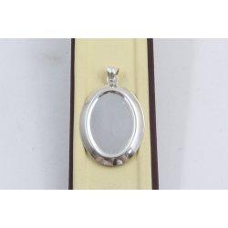 Сребърен медальон плочка 2912