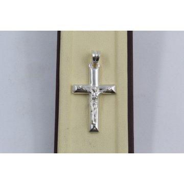 Дамски сребърен медальон кръст 2916