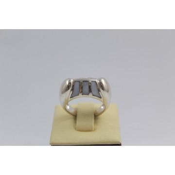 РАЗПРОДАЖБА -50% Сребърен седефен пръстен 2975