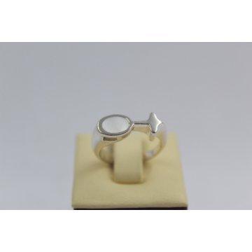 РАЗПРОДАЖБА -50% Сребърен седефен пръстен 2980