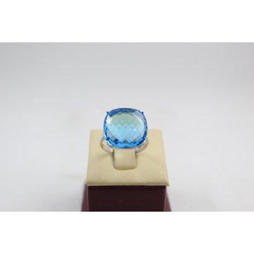 Дамски сребърен родиран пръстен с камъни 2993