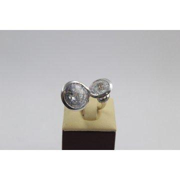 РАЗПРОДАЖБА Сребърен пръстен с бели циркони 2997