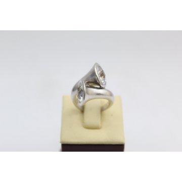 РАЗПРОДАЖБА Дамски сребърен пръстен с бели циркони 2997