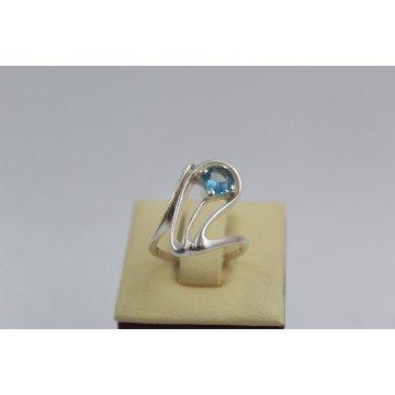РАЗПРОДАЖБА -23% Сребърен пръстен със син камък 2999