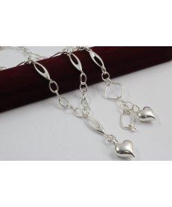 Дамски сребърен комплект - Мирела Стилето Сърце 3068