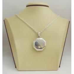 Сребърен отварящ се медальон за снимки 3072