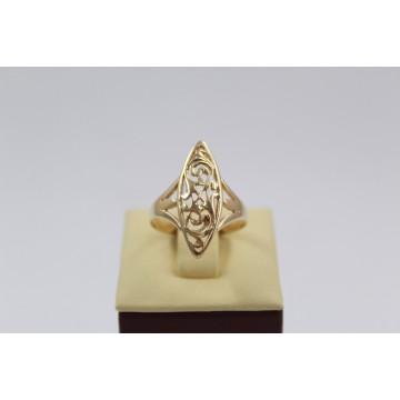 Златен дамски пръстен Бадем жълто злато 3074