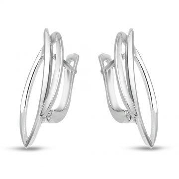 Дамски сребърни обеци с английско закопчаване 3086