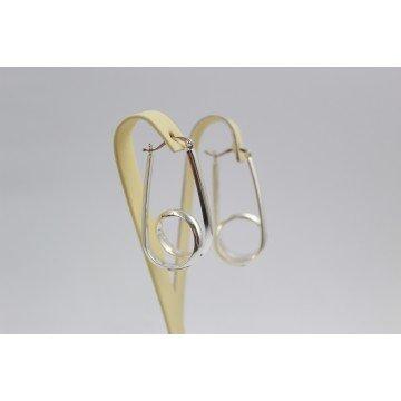 Дамски сребърни висящи обеци 3091