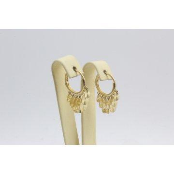 Златни дамски обеци халки жълто злато 3131