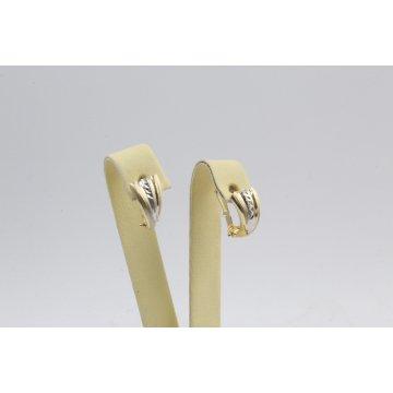 Златни дамски обеци халки бяло жълто злато 3131