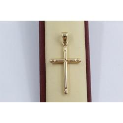 Златен дамски медальон кръст 3134