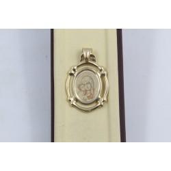 Златен дамски медальон богородица жълто злато 3140