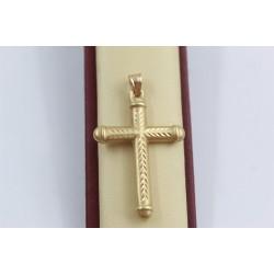 Златен женски кръст жълто злато 3149