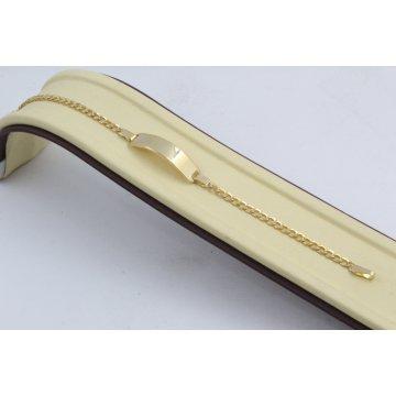 Златна детска гривна с плочка 3156