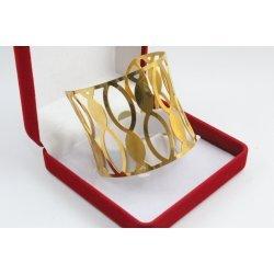 Твърда женска гривна от жълта медицинска стомана 3222