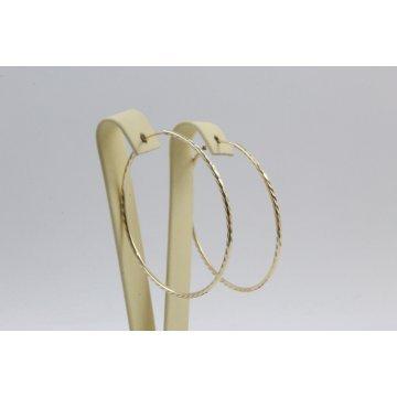 Златни обеци за жени халки жълто злато 3270
