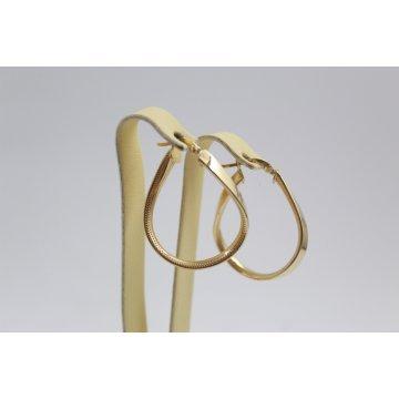 Златни женски обеци халки жълто злато 3272