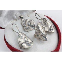 Дамски сребърен комплект Африканка 3335