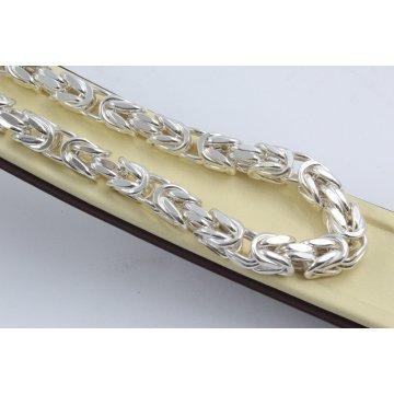 Сребърен мъжки ланец кралска плетка 334
