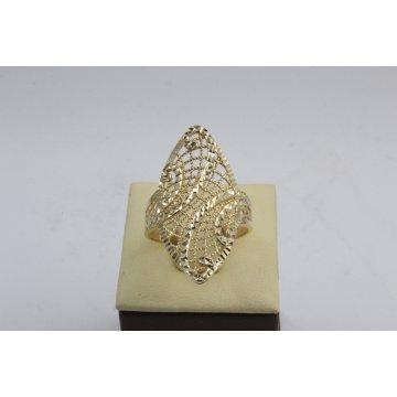 Дамски златен ретро пръстен Бадем Ажур 1 жълто злато 3366