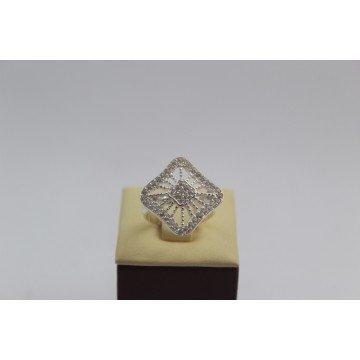 Дамски сребърен пръстен с бели камъни Баронеса 3388