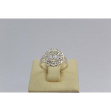 Дамски сребърен пръстен с бели камъни 3420