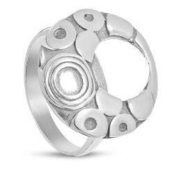 Дамски сребърен пръстен от тъмно сребро 3445