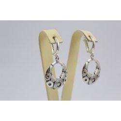 Дамски сребърни висящи обеци от тъмно сребро 3443